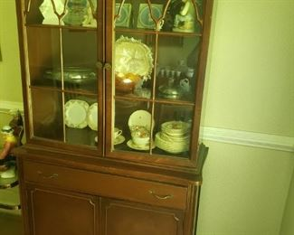 China Cabinet contains Hopewell China and Wedgwood pin dishes