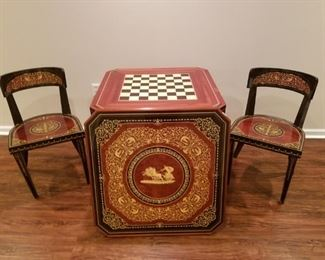 Games Table and 2 chairs
