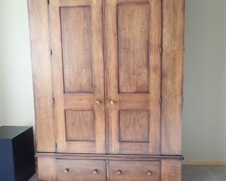 GRAND STORAGE ARMOIRE / OVER SIZED SOLID WOOD STATEMENT PIECE