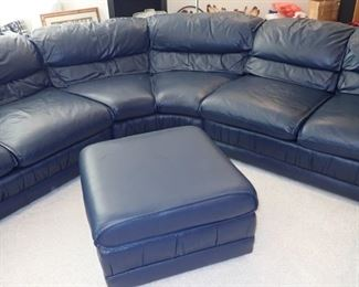 "THIS IS ONE SPECTACULAR LEATHER SECTIONAL  103"" TO MIDDLE OF CURVE 141"" PLUS TO END -  THE CHASE'S ARE 63"" FRONT TO BACK - OTTOMAN IS 26"" SQUARE.  FROM DAYTONS  - GREAT CONDITION"