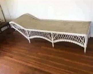 Antique wicker chaise, there also 2 matching chairs