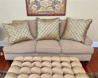 "Item 68:  (3) Silk pillows - 26"" x 26"": $50 each (sofa now sold)"