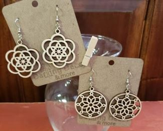 Handmade Wooden Earrings Everything in picture for $20