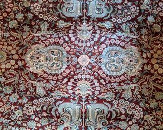 Center medallion of the Persian Tabriz rug.