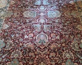 "Gorgeous hand woven Persian Tabriz rug, measuring 12' 2"" x 8' 11""."