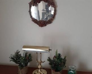 Lamp, Plants and Mirror