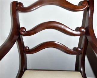 Close Up of Dining Room Arm Chair