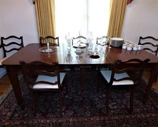 Mahogany Dining Room Table with 8 Chairs