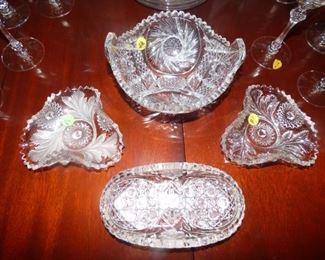 Antique Cut Glass bowls