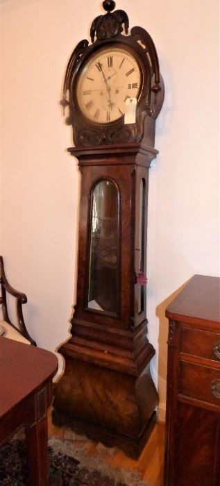 Antique Scottish Grandfather Clock (As Is) by J & W Mitchell, Glascow
