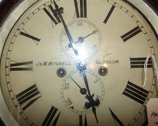 Close Up of Face of Scottish Grandfather Clock