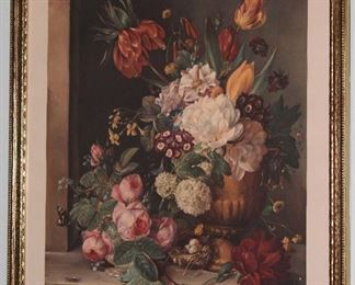 Profusion of Beauty by Francois Joseph Huygens was a Dutch q19 Century Painter (1820-1908) Framed and Matted  Print Matted