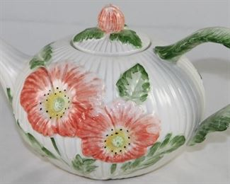 Fits & Floyd Hand Painted Floral  32oz Teapot