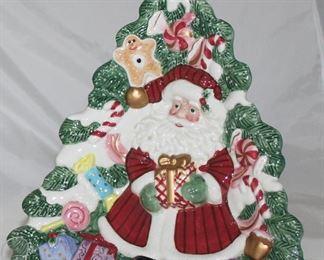 Ceramic Santa Christmas Tree Tray