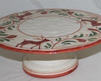 Made in Italy Ceramic Pedestal Cake Plate