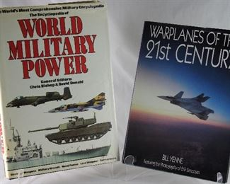 """""""The encyclopedia of world military power"""", The World's Most Comprehensive Military encyclopedia. General editors: Chris Bishop and David Donald. 1986  """"Warplanes of the 21st Century by Bill Yenne Featuring the Photography of Erik Simonsen"""