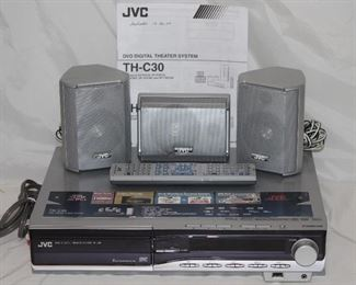 JVC DVD Digital Theater System TH-C30 with Receiver & 5 Speakers (2 wall Mounted  Speaker and Sub Woofer not shown)