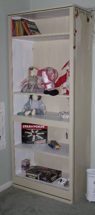 """Off White Wall Cabinet w/5 Shelves (81""""H x 33""""W x 16.5""""D)"""