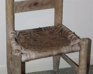 Antique Child's Cane Seat Ladder Back Chair