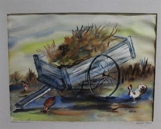 Original Water Color by Katherine Elrod Signed and Titled On mat in Pencil