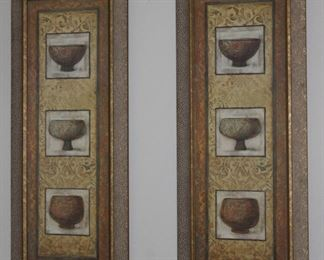 "2 ea. Framed Vessels Prints (16.5"" x 40.5"")"