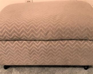 Large Upholstered Ottoman with lift top storage