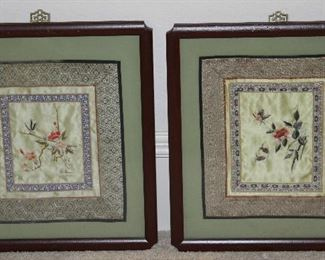 Windsor Art Products Frames Silk Embroidered Panel, Pair