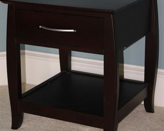 """Baronet Made in Canada Java End Table with Drawer and Lower Shelf (24""""H x 21""""W x 21""""D)"""
