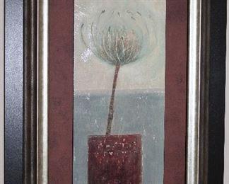 """Agapanthus Framed Art Print (18.5"""" x 30.5"""" Overall)"""