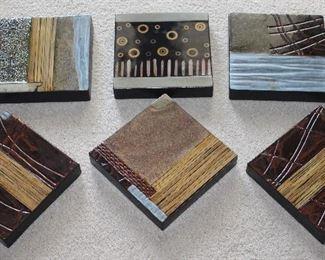 Bombay Company set of 6 Ceramic Wall Block Tiles