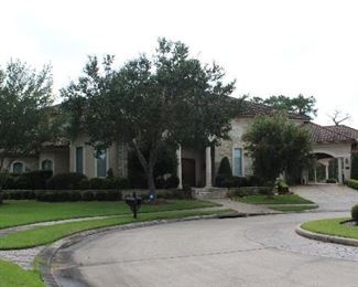 Front view of house from left