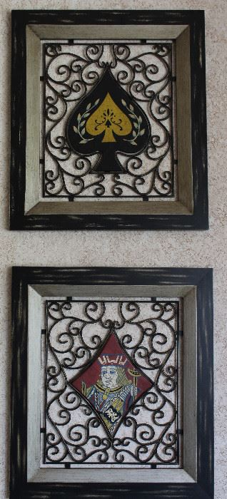 """Paragon Picture Gallery """"Spade"""" & """"King of Diamonds""""  Metal Wall Art.  Artist Unknown (27"""" x 31"""")"""