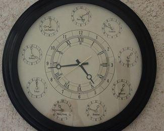 """Bombay Company Round 24"""" World Time Clock"""
