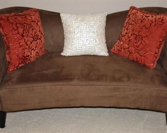 Strata Moroccan. Town Faux Suede Love Seat