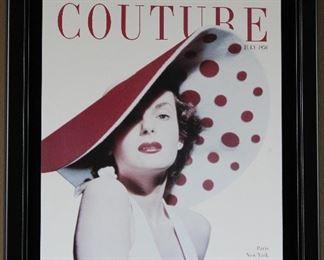 Jean Patchett, 1940-1960 Model  1950 Couture Magazine Cover Wall Art (11 x 14)
