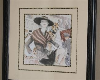 """Couture Fashion Framed and Matted Print (23.5"""" x 23.5"""")"""