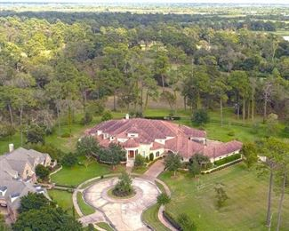 Ariel View of 12,000 Square Foot Home