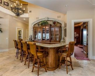 Kitchen View with Bar Stools