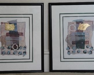 """Deck Walls Abstract Black Framed And Matted  Art        (21.5"""" x 24""""}"""