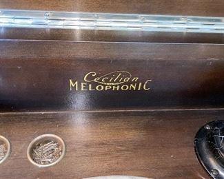 """$400 ANTIQUE CECILIAN MELOPHONIC PHONOGRAPH LARGE CABINET 40.5""""L x 23""""D x 39.5""""H"""