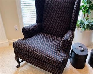 "$120 EACH WINGBACK CHAIR  33""L x 29""D x 44""H"