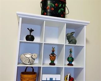 SHELF WITH COLLECTIBLES