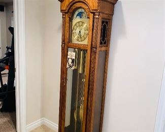 "$350 HOWARD MILLER GRANDFATHER CLOCK 18.5""W x 10.5""D x 78""H"