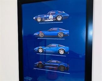 $30 CORVETTE FRAMED ART