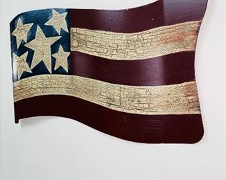 METAL WALL ART - FLAG