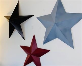 $25 SET METAL STARS WALL ART