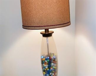 "$40 MARBLES LAMP 31""HEIGHT"