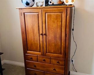 "$150 STANLEY FURNITURE WARDROBE  40""L x 18""D x 62""H"