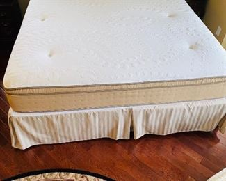 "$300 KING SIZE PILLOW-TOP MATTRESS AND BOX SPRING 76""W x 80""L"