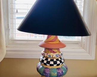 "$350 RARE MACKENZIE CHILDS LAMP  26.6"" HEIGHT"